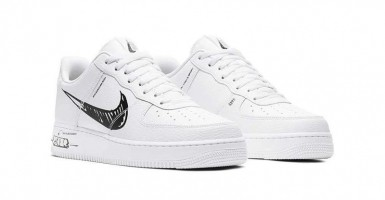 2019 Nike Air Force 1 Low Premium 08 NRG Oliv Basketskor